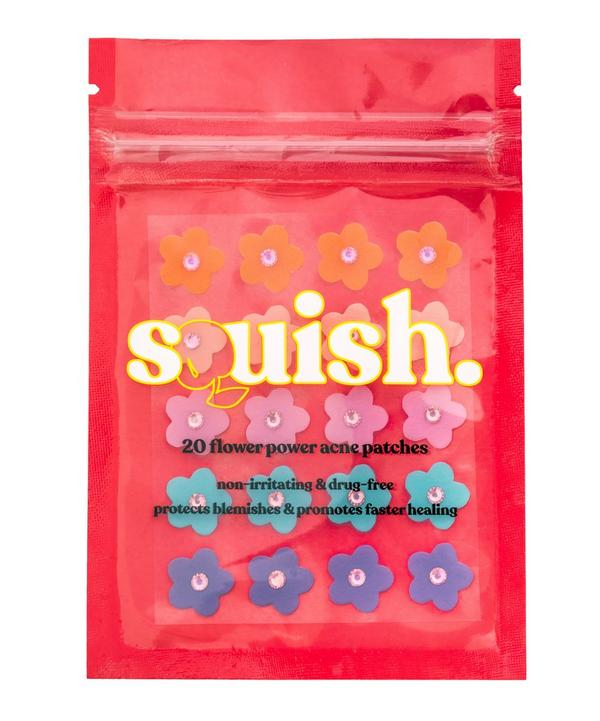 Squish flower acne patches, multicolour flowers with sequins on.