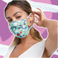 Woman in floral face mask