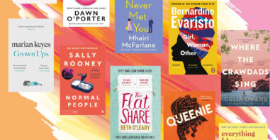 The top ten books in a line